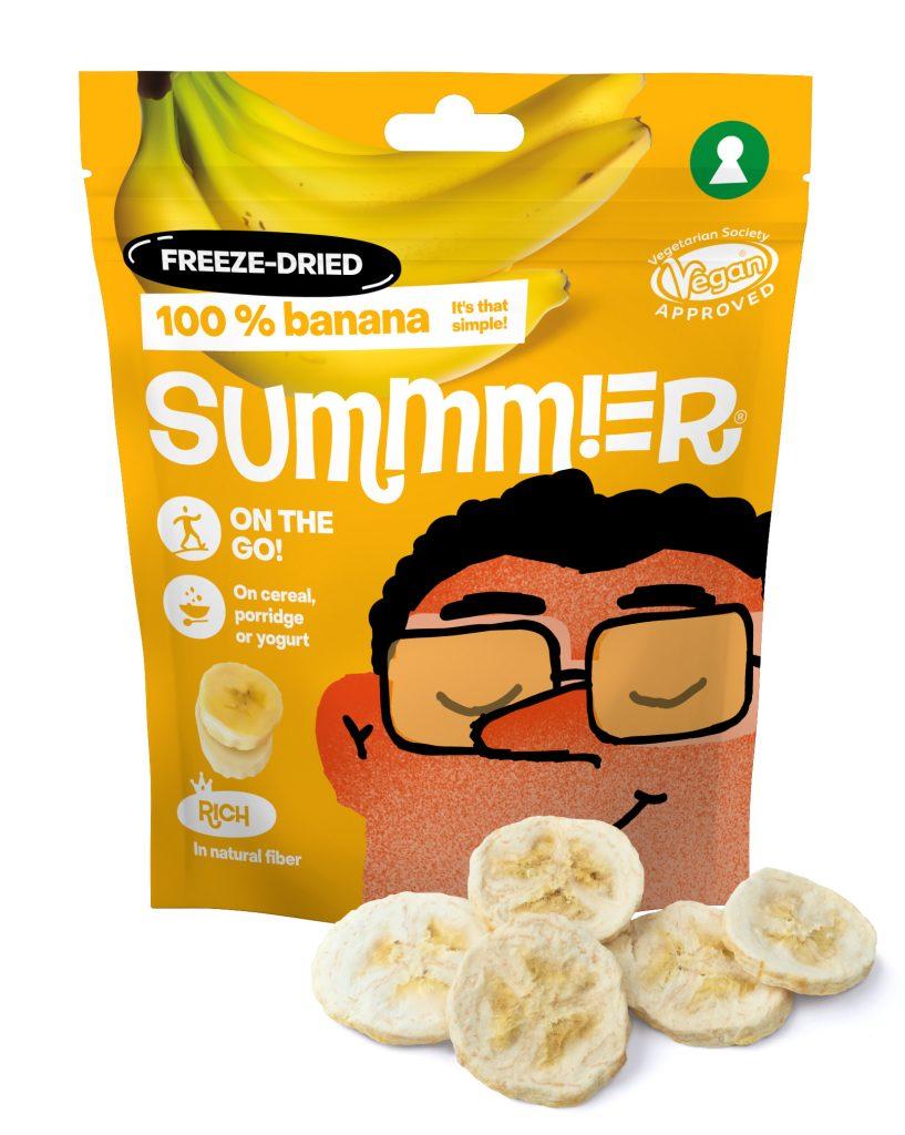 Summmer freeze-dried bananas