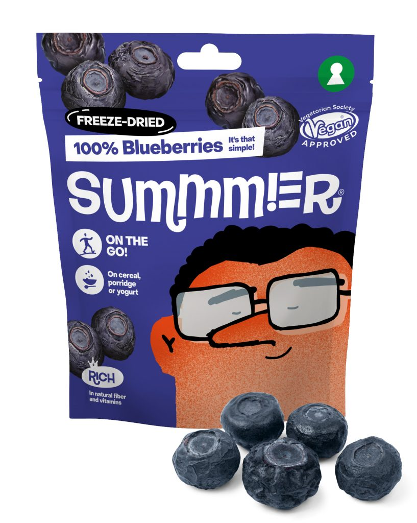 Summmer freeze-dried blueberries