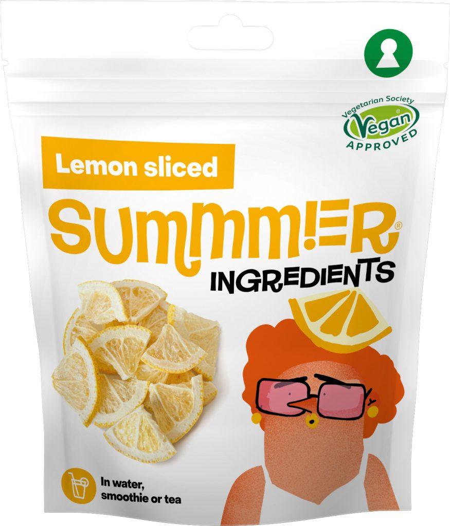 Summmer freeze-dried lemon sliced