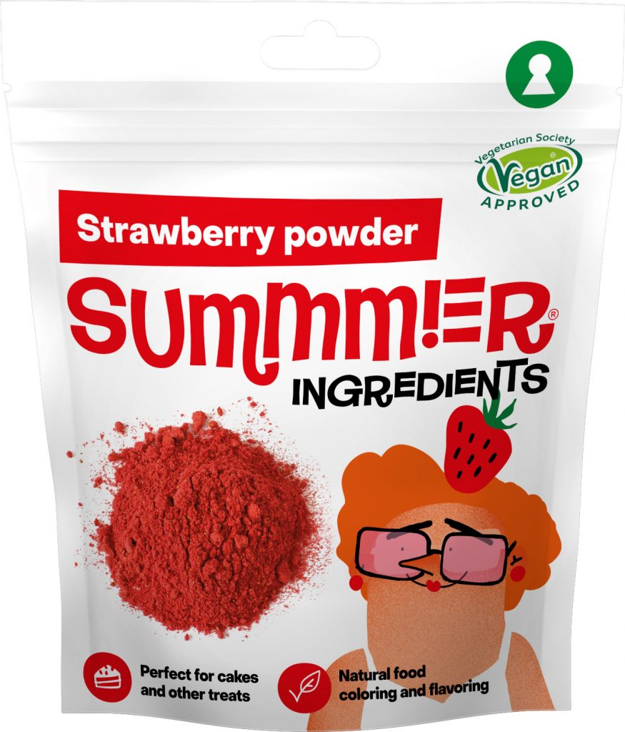 Summmer freeze-dried strawberry powder