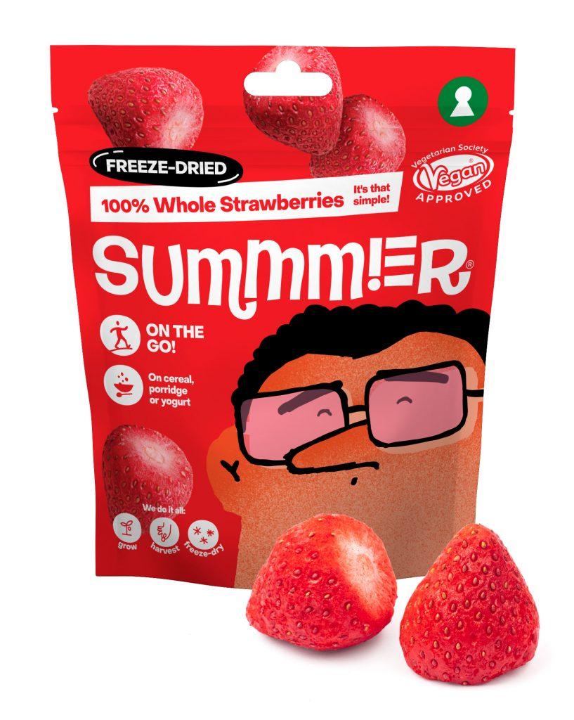 Summmer freeze-dried strawberries